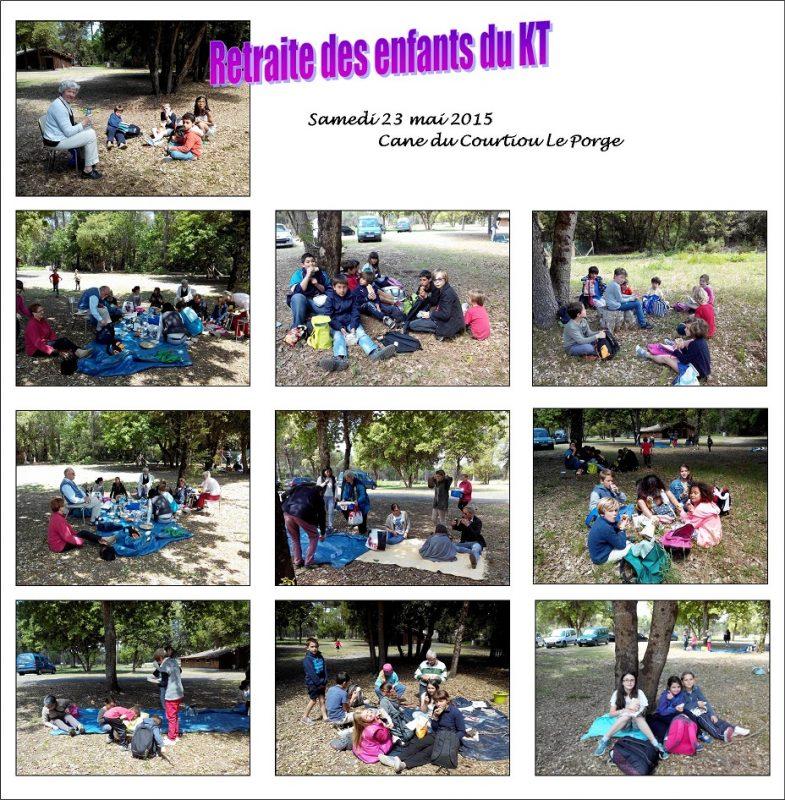 Retraite des enfants du caté. Secteur >Pastoral Lège Arès . mai 2015