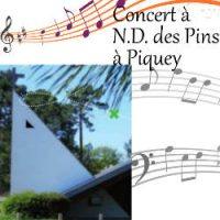 Concert en l'église N.D. des Pins à Piquey