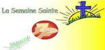 La Semaine Sainte dans notre secteur